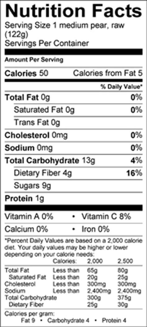 asian pear nutritional information jpg 192x427
